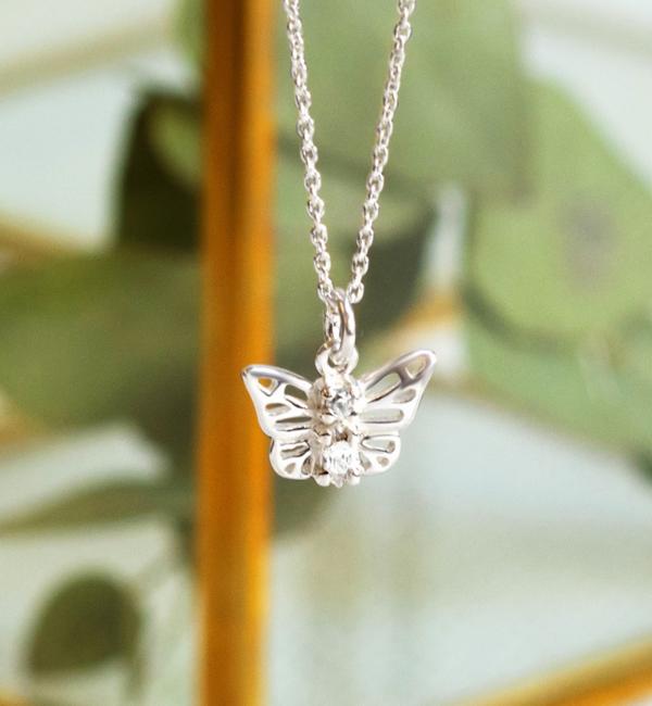 KAYA sieraden Zilveren Ketting 'Butterfly'