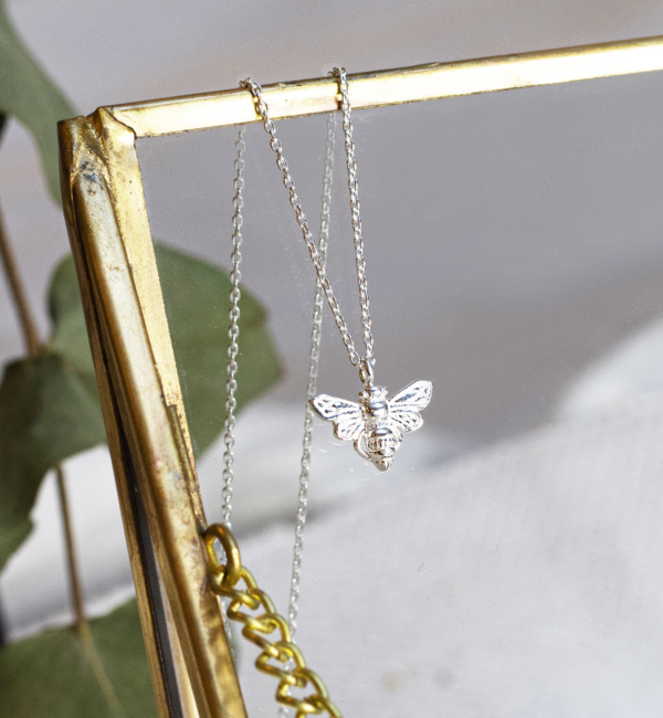 KAYA sieraden Zilveren Ketting 'Queen Bee'