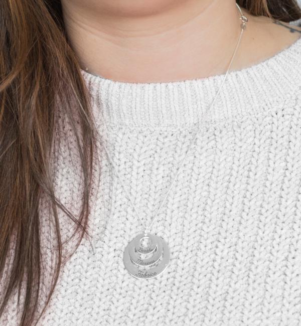 KAYA sieraden Mamakado: silver necklace 'Triple Eternity'