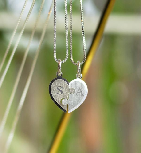KAYA sieraden Set of two silver chains 'little piece of me' - Copy - Copy - Copy - Copy