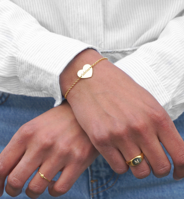 Sieraden graveren Engrave silver bracelet * front and back engraving *