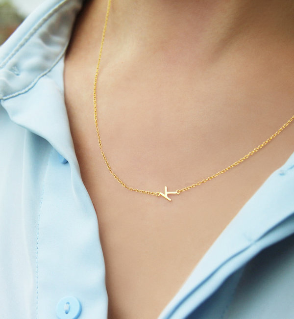Gegraveerde sieraden Necklace Inline Letters