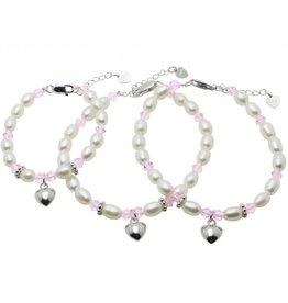 "KAYA 3rd generation silver bracelets ""Little Diva"" with heart"