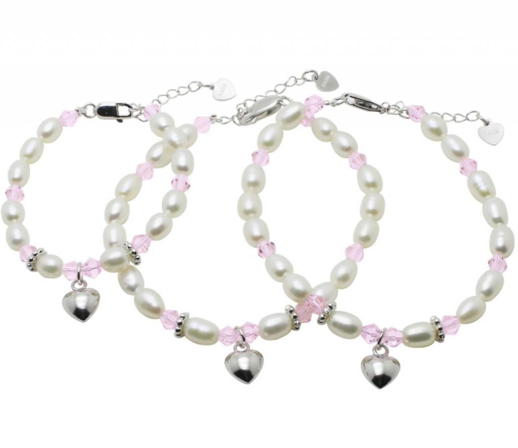 """KAYA sieraden 3rd generation silver bracelets """"Little Diva"""" with heart"""