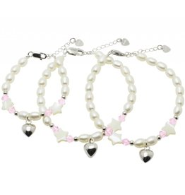 KAYA Silver 3-Generation bracelets 'Sparkling Star' with Swarovski and silver heart