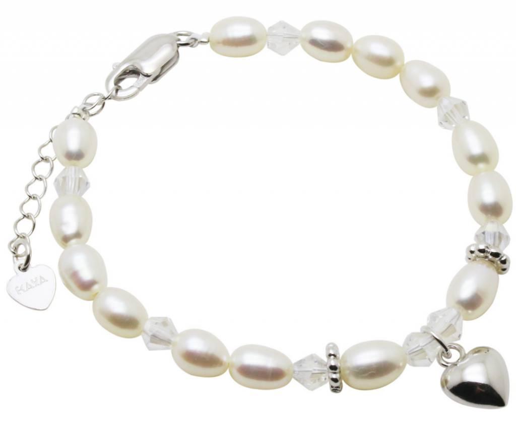 KAYA Silver bracelet child 'Sparkles' with heart