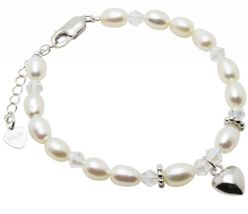 Silver bracelet child 'Sparkles' with heart
