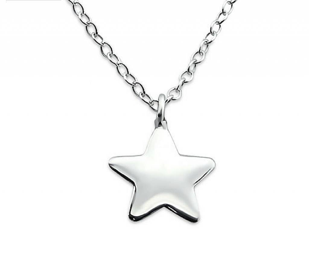 Zilveren ketting 'You are my star'