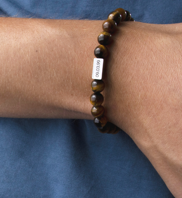 Sieraden graveren Jongens armband met Tijgeroog Kralen