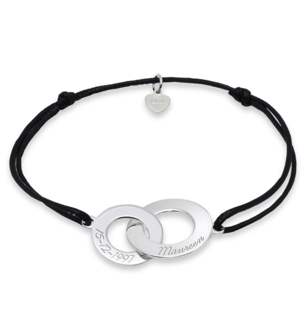 KAYA sieraden Zilveren Koord Armband 'Verstrengeld'
