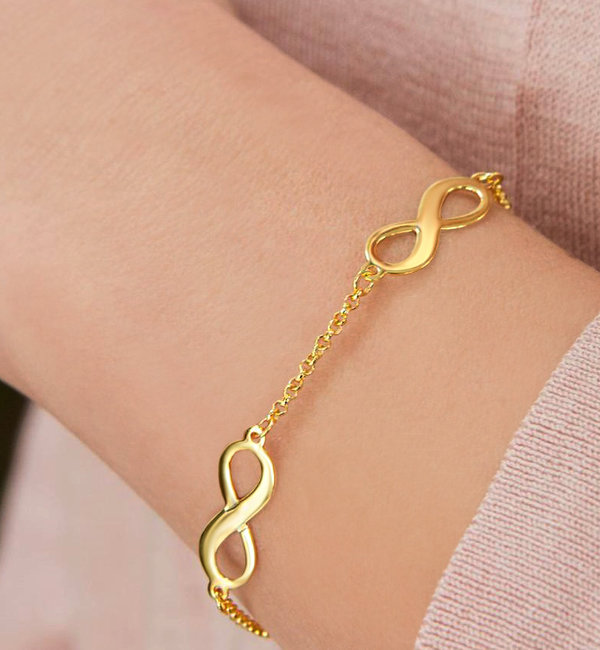 Sieraden graveren Armband 'Infinity' 2 namen