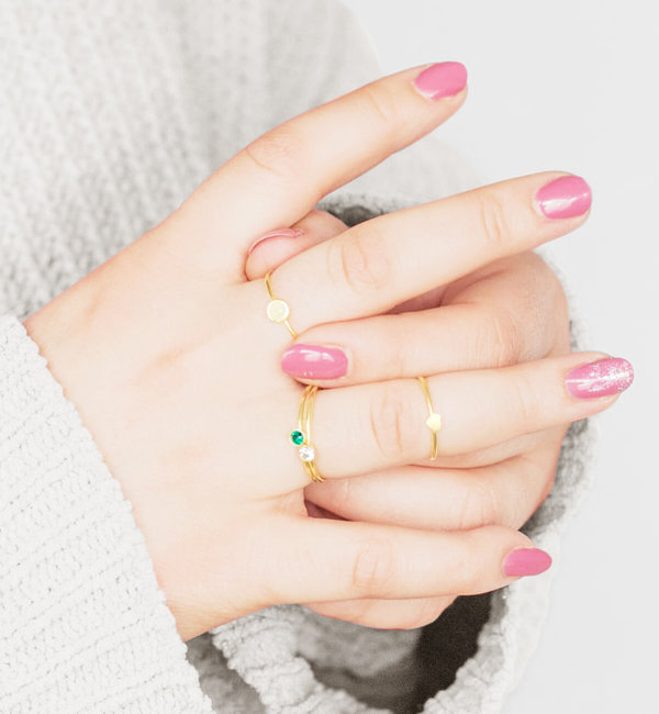 Sieraden graveren Zilveren Ring 'Lovely Heart'
