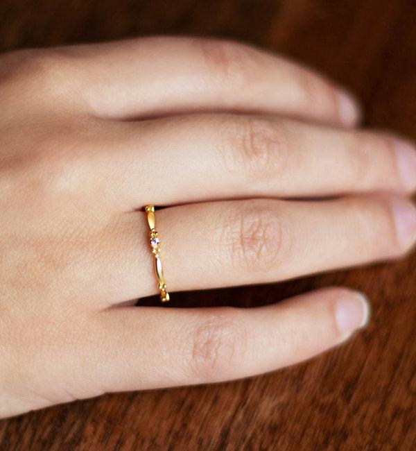 KAYA sieraden Birthstone Ring 'Eden' I Sterling Zilver