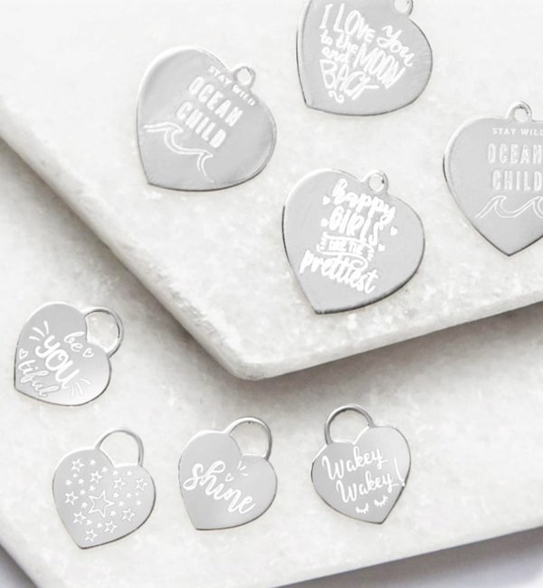KAYA sieraden Silver Graveerbedel ★ ★ additional personal - Copy - Copy - Copy