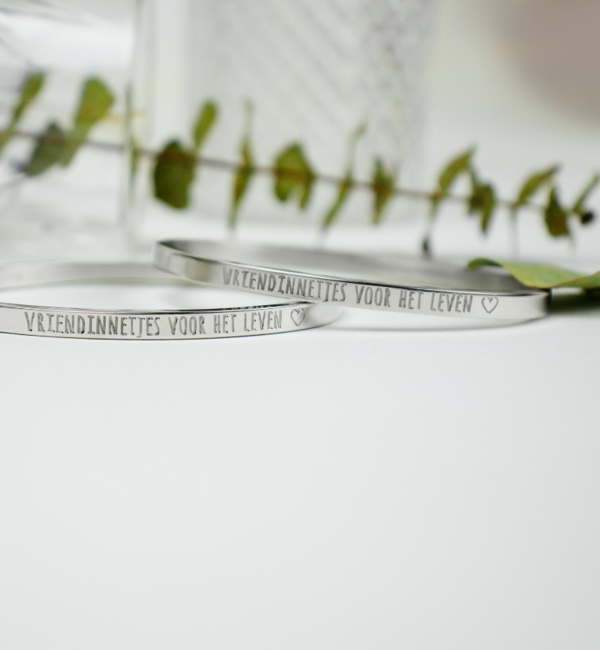 KAYA sieraden Bangle with text 'Engrave me' - Copy