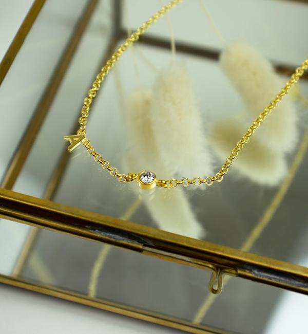 Gegraveerde sieraden Swarovski® Charm Birth Crystal - Copy - Copy - Copy - Copy