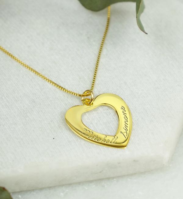 KAYA sieraden Ketting 'In My Heart' met gravure