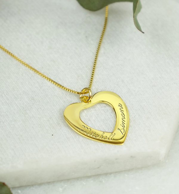 Sieraden graveren Ketting 'In My Heart' met gravure
