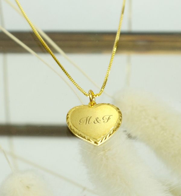 KAYA sieraden Goldplated necklace 'Vintage Heart'