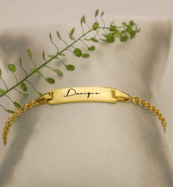Sieraden graveren Bracelet with own handwriting - Copy - Copy - Copy - Copy - Copy
