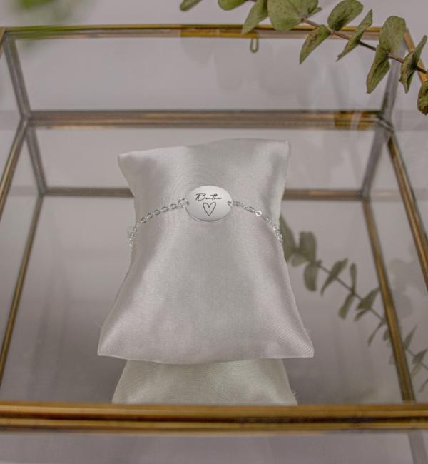 Sieraden graveren Zilveren Armband 'Eigen Handschrift'