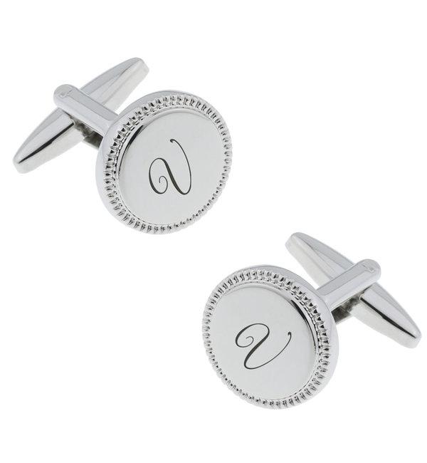 Sieraden graveren Engraved Cufflinks 'Beaded'
