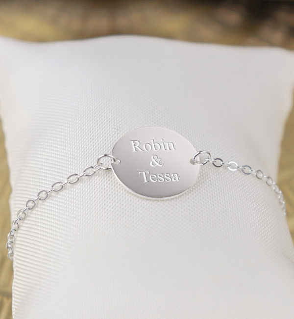 Sieraden graveren Personalised Disc Bracelet - Copy