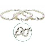 KAYA sieraden Silver bracelets third generation 'you & me forever'