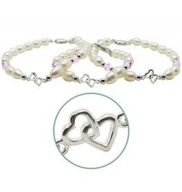 KAYA Zilveren 3 generatie armbanden 'you & me forever'