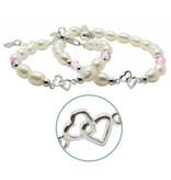 Silver Mom & Me bracelets 'you & me forever'