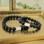 KAYA sieraden Armbanden Set Papa & Zoon met Zwarte Onyx Kralen