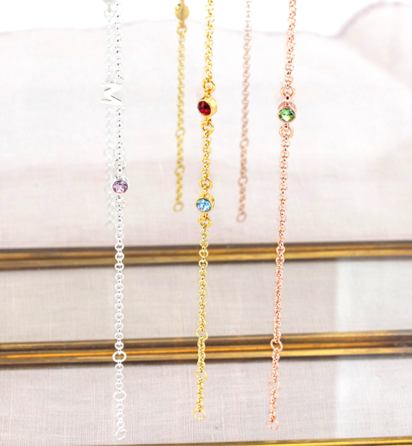 KAYA sieraden Necklace with birth stones 'two hearts' - Copy - Copy - Copy - Copy - Copy - Copy - Copy