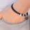 KAYA sieraden Zwarte Leren Armband met Naambedels naar Keuze