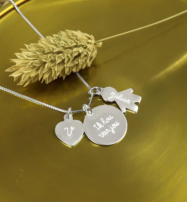 KAYA sieraden Silver Necklace '' Tree of Life '& Birth Crystal - Copy - Copy