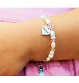 KAYA sieraden Verzilverde Naambedels voor aan een armbandje