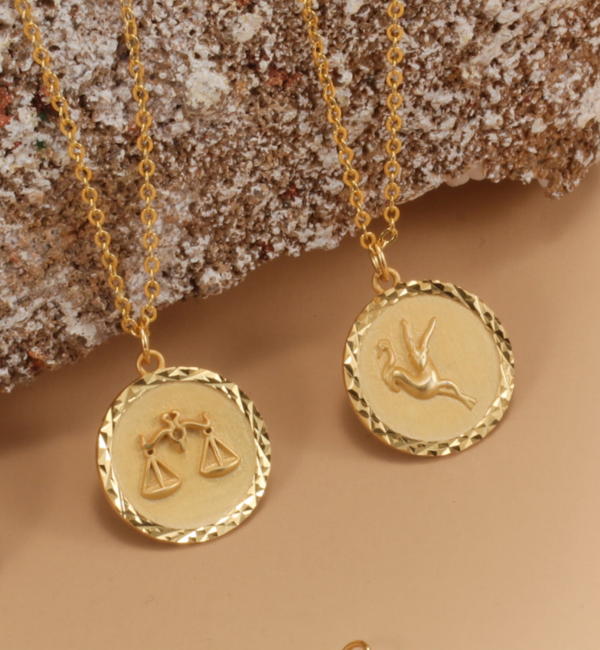 KAYA sieraden Ketting met Sterrenbeeld 'Weegschaal'