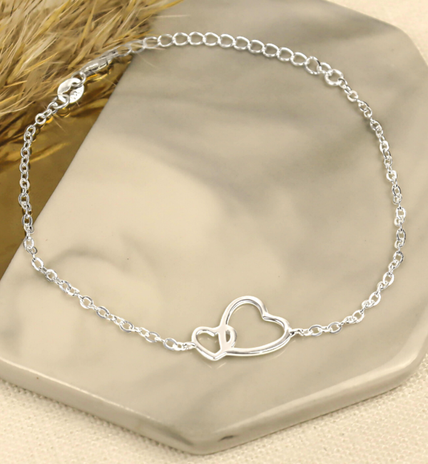 KAYA sieraden Silver bracelet children's 'You & Me'
