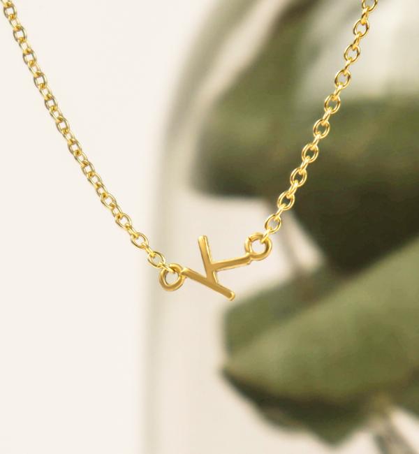 Sieraden graveren Necklace Inline Letters