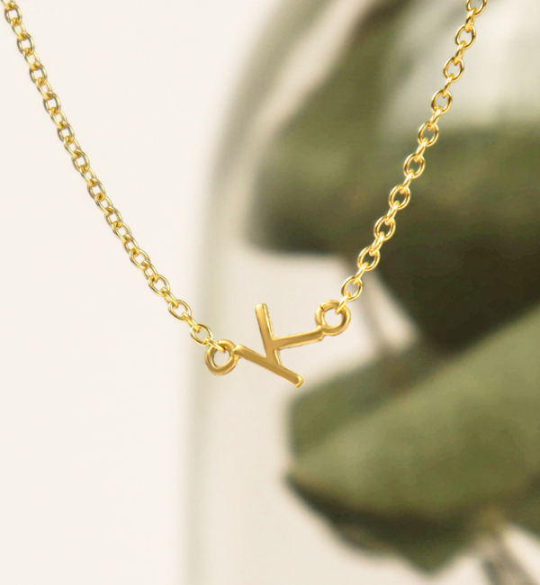 Gegraveerde sieraden Letterketting 'Initials'  I Stel zelf samen
