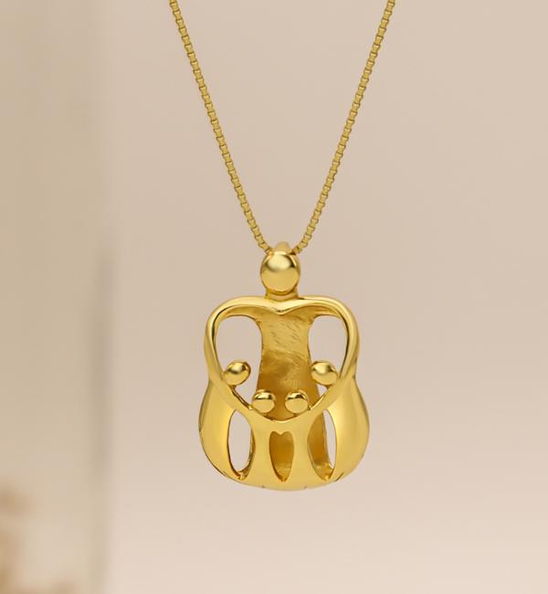 """KAYA sieraden Silver Necklace """"The Love Between Mother & Daughter .. '- Copy - Copy - Copy"""