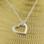 KAYA sieraden Zilveren Ketting 'Hearts' met Naam