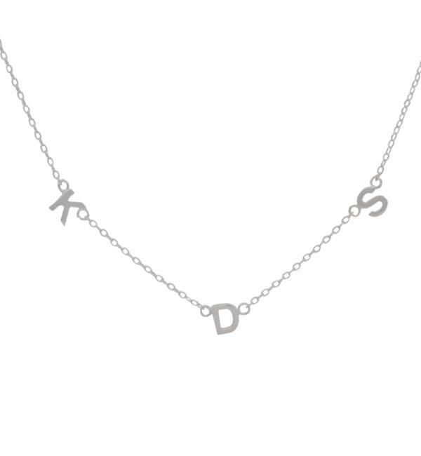 Gegraveerde sieraden Letter Ketting  'Horizontaal' I Kies het materiaal