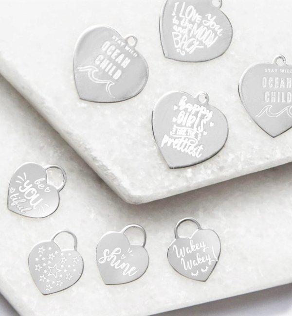 KAYA sieraden Silver Graveerbedel ★ ★ additional personal - Copy - Copy