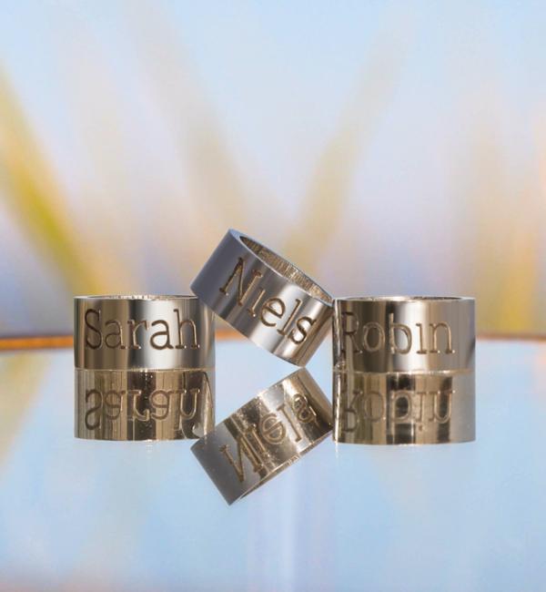 Sieraden graveren Gepersonaliseerd RVS Ringetje