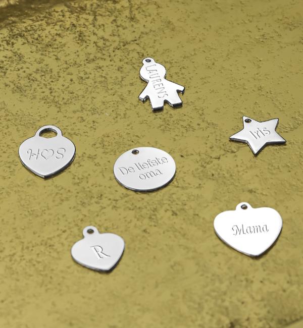 KAYA sieraden Zilveren Graveerbedels