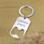 KAYA sieraden Roestvrijstalen Sleutelhanger met Bieropener met Gravure