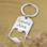 Sieraden graveren Roestvrijstalen Sleutelhanger met Bieropener met Gravure