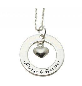KAYA Silver necklace 'Always & Forever'