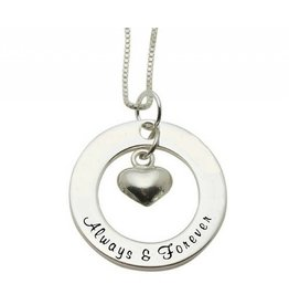Silver necklace 'Always & Forever'