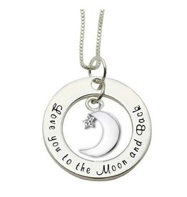KAYA Silver necklace 'Love you to the Moon & Back'